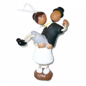 Novios Tarta Divertidos - Figura Pastel Novio a hombros (Bubinots)