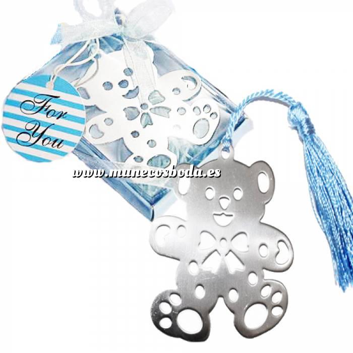 Imagen Detalles de Bautizo Marcapáginas Bautizo - Osito en Estuche Azul (Últimas Unidades)