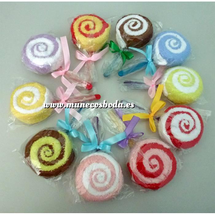 Imagen Detalles de Bautizo Piruletas de toalla MINI colores surtidos (Últimas Unidades)