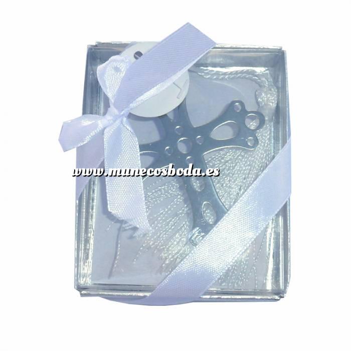 Imagen Detalles y libros de firmas Co Marcapáginas Comunión - Cruz Troquelada con Borla en caja Transparente (Últimas Unidades)