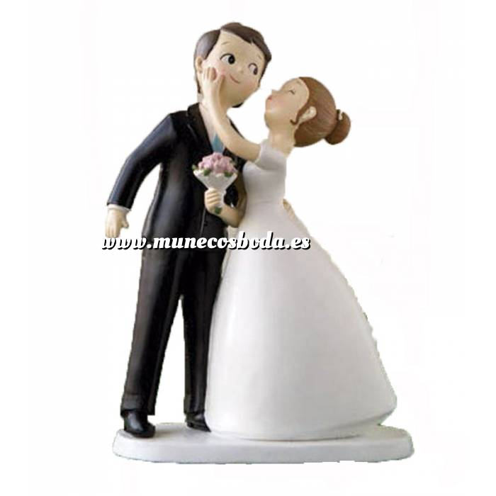 Imagen Novios Tarta Divertidos Muñeco Boda Kissing