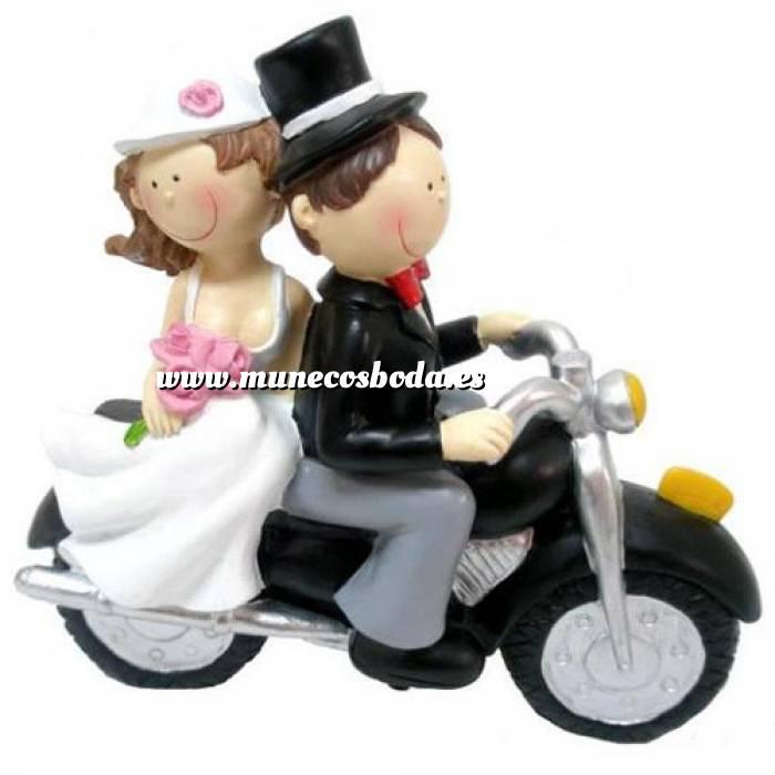 Imagen Novios Tarta Divertidos Muñeco Boda Moto II