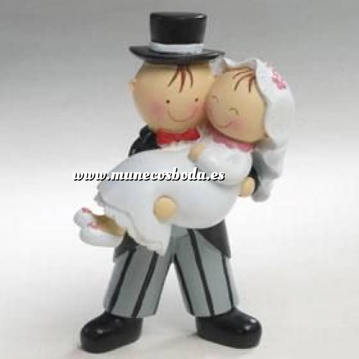 Imagen Novios Tarta Divertidos Novios Tarta Resina Ella en brazos