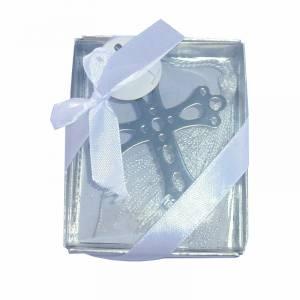 Detalles de Comunión - Marcapáginas Comunión - Cruz Troquelada con Borla en caja Transparente