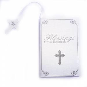 Imagen Detalles y libros de firmas Co Marcapáginas Comunión - Cruz Plateada con Borla en caja Biblia