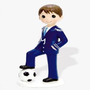 Figuras de Comunión - Figura Tarta Comunión Niño con balón