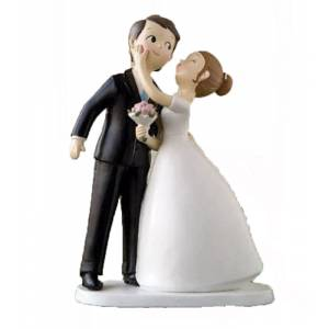 Novios Tarta Divertidos - Mu�eco Boda Kissing