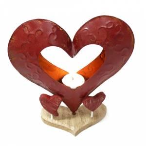 Novios tarta Clásicos - Figura Pastel Vela Corazón Metal (Últimas Unidades)