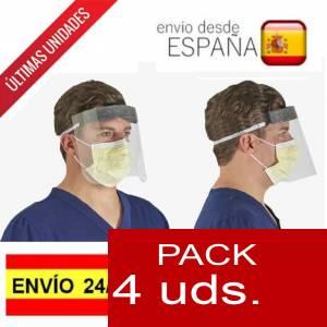 .ESPECIAL COVID19 - PACK de 4 Pantallas de protección facial- ALTA PROTECCION